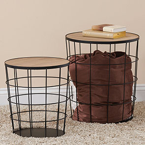Cage Accent Table Set