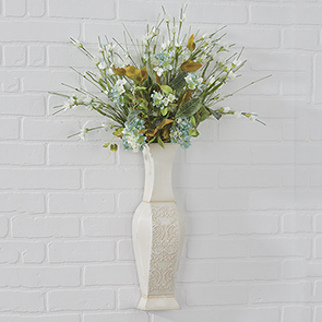 Aurora Wall Pocket/Vase with Flowers Set