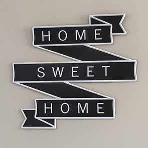 Home Sweet Home Ribbon Sign