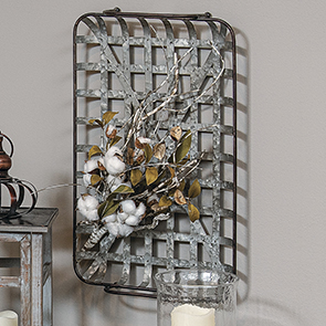 Metal Tobacco Basket, Rectangle